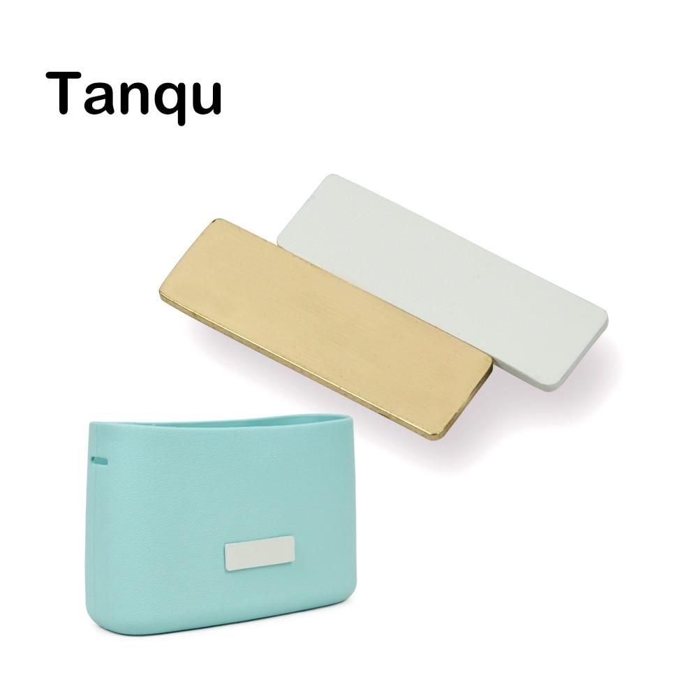 TANQU Flap Pocket-Interchangeable-Accessories Obag-O-Bag Metal Golden New White Buckle