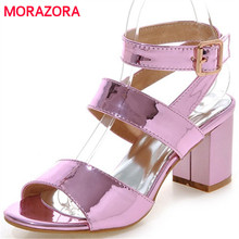 MORAZORA Large size 34-45 women sandals shoes in