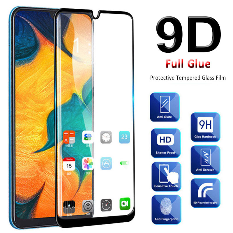 9D Protective <font><b>Glass</b></font> On For <font><b>Samsung</b></font> Galaxy A70 A50 A40 A30 Screen Protector Tempered <font><b>Glass</b></font> On sumsung <font><b>a</b></font> 70 50 <font><b>40</b></font> 30 trempe verre image