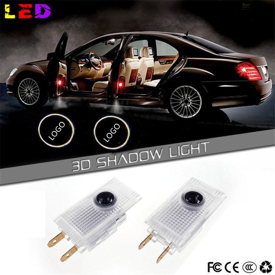 NO Drill LED Car Door Logo Projector Laser Light Emblems Welcome Ghost Shadow lamp FOR opel INSIGNIA Buick Regal