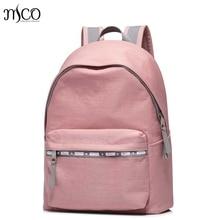 Высокое качество Для женщин холст Водонепроницаемый Кампус Рюкзак для подростков Обувь для девочек студент высшей школы путешествия розовый рюкзак сумка для ноутбука