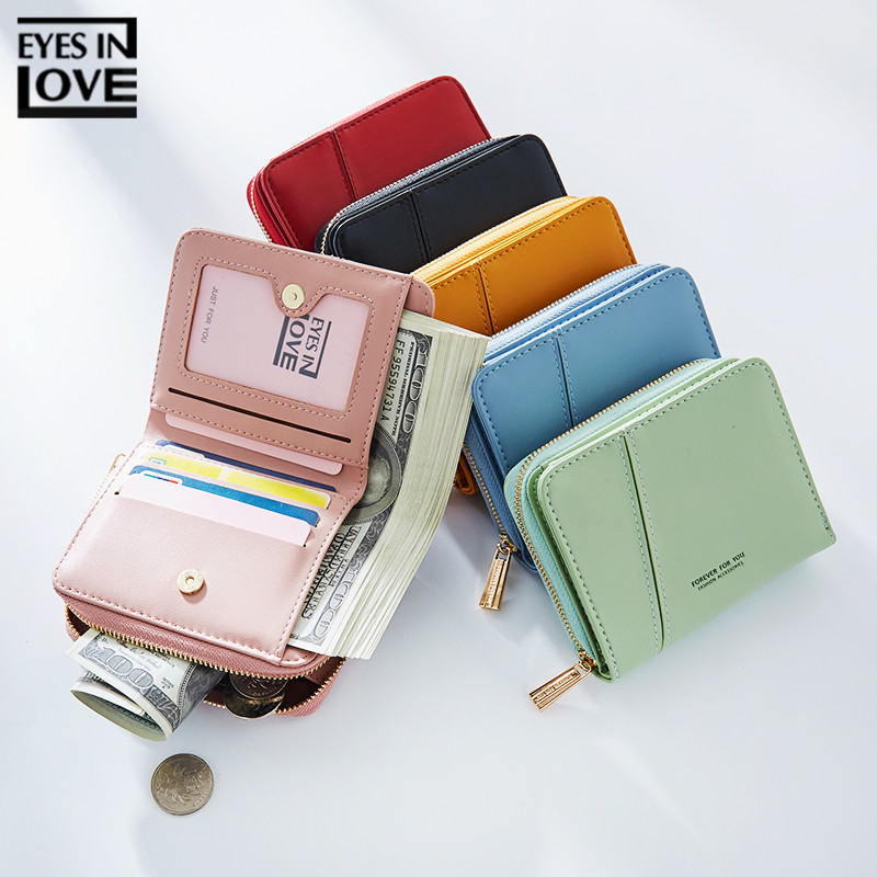 Brand Desginer Women Wallet With Zipper Coin Pocket Card Holder Ladies Purse High Quality Small Wallets Female Short Carteras