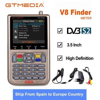 NEW GTmedia V8 Finder Meter Satellite Finder Satfinder HD 1080P DVB-S/S2/S2X signals with Battery 3000mAh Update From V8 Finder