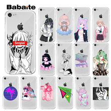 Babaite Sad japanese anime aesthetic TPU Soft Phone Accessories Case for iPhone X XS MAX  6 6s 7 7plus 8 8Plus 5 5S SE XR