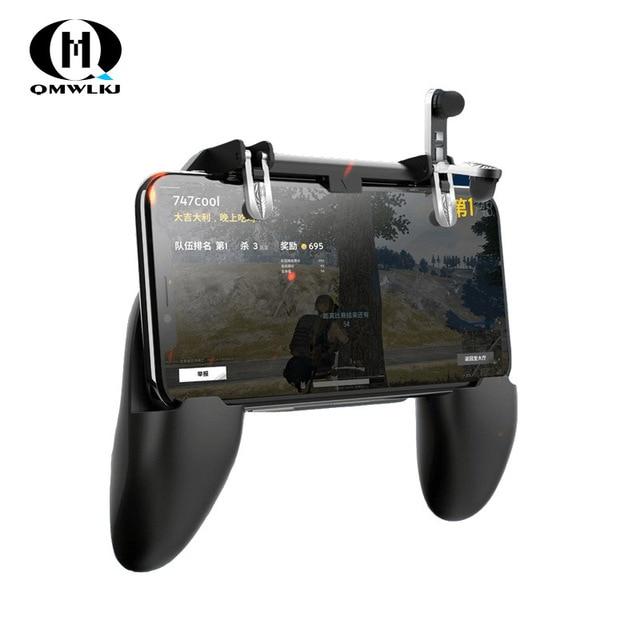 3 in 1PUBG Smart Phone Mobile Gaming Trigger Pubg Controller Fire Button Aim Key L1 R1 Gaming Joysticks Mobile Gamepad