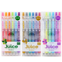 6 12Pcs Set MUJI Style Japanese Gel Pen Manga Cartoon Advertising Design Water Colour Ink Pen