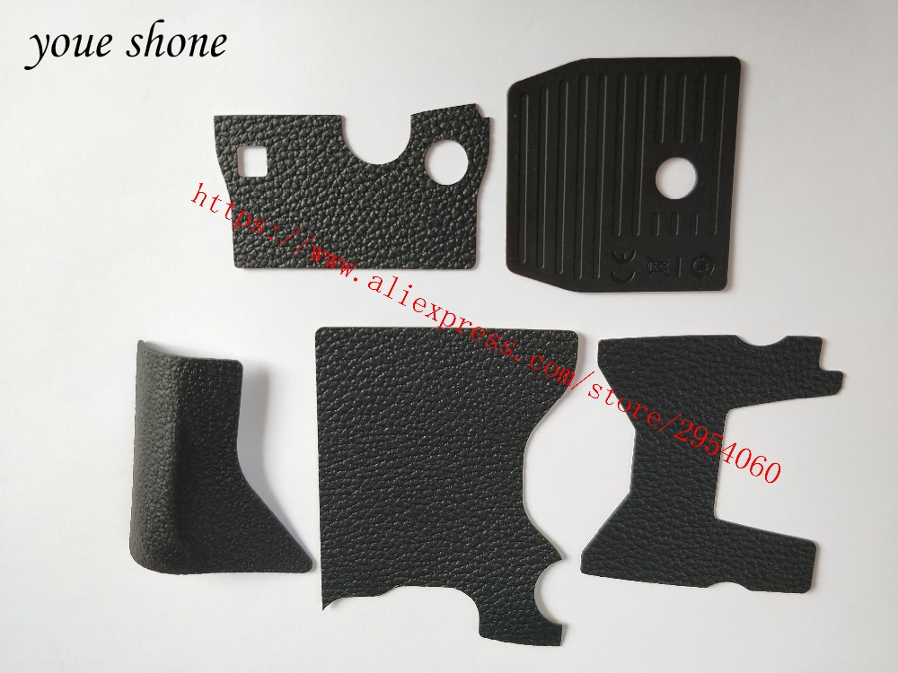 Free Shipping! New 100% Original DF 5 PIECE FRONTREAR GRIP RUBBER SET NEW REPAIR PARTS OEM + Tape For NIKON DF