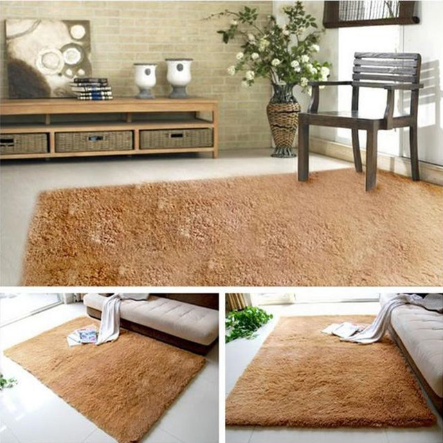 Hot 140x200cm Plush Soft Carpet Floor Rug Kids Rugs 2cm Fur Gy Carpets For Living Room