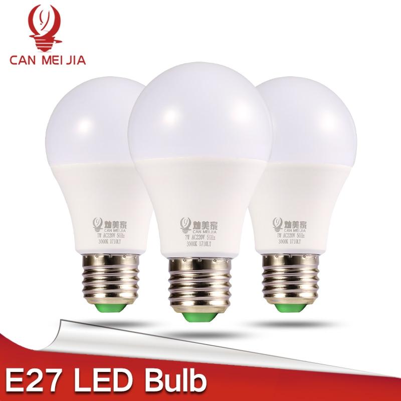 CANMEIJIA E27 LED Bulb Lamp 220V Powerful Lights Bulbs 3W 5W 7W 9W 12W 15W 110V Ampoule Led Bombillas Cold Warm White