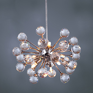 Modern Crystal Pendant Lamp with 6 Lights in Artistic Style Lustres e Pendentes Hanging Light Lamparas Colgantes