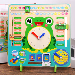 Image 4 - Wooden Montessori Toys Baby Weather Season Calendar Clock Time Cognition Preschool Education Teaching Aids Toys For Children