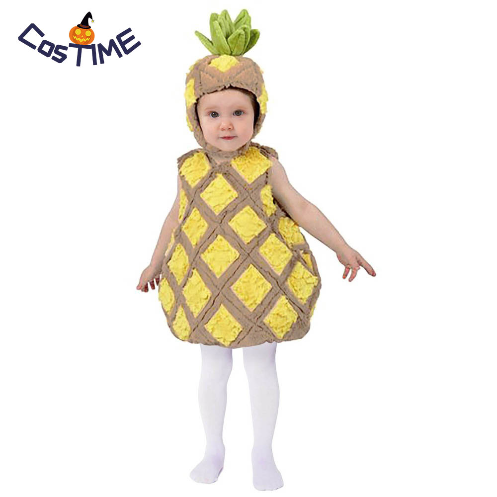 e699ef650550 Child Tropical Pineapple Costume Cute Food Fruit Fancy Dress Outfit ...