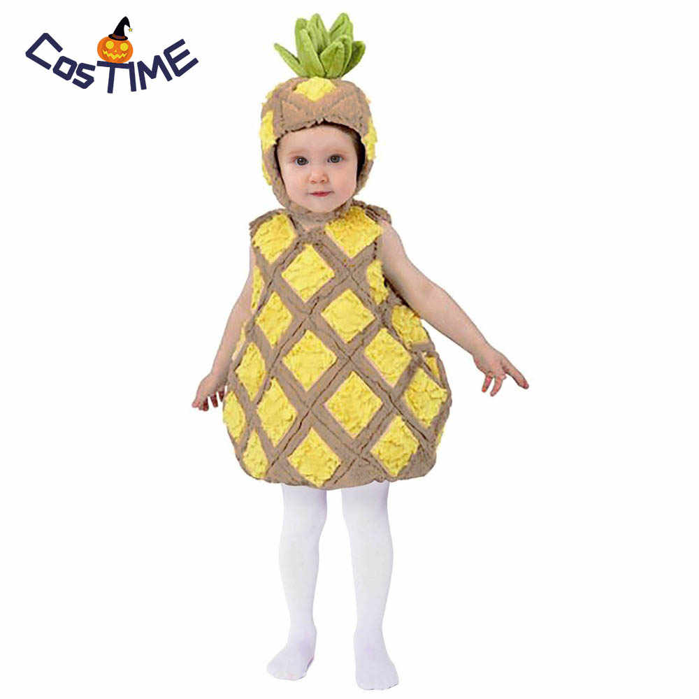 55c8668d98d4be Child Tropical Pineapple Costume Cute Food Fruit Fancy Dress Outfit Funny  Halloween Costume Little Baby Full