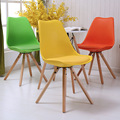 LANSKAYA 2 Piece of Set Tulip Chair Cafe Leg Beech Radiation Modern Plastic chairs Dining-room-furniture Ergonomic Furniture