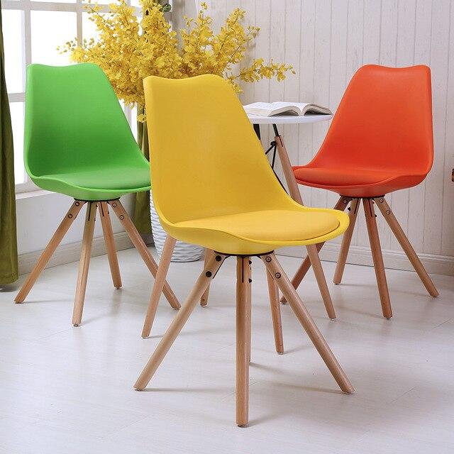 LANSKAYA 2 Piece of Set Tulip Chair Cafe Leg Beech Radiation Modern Plastic chairs Dining-room-furniture Ergonomic Furniture