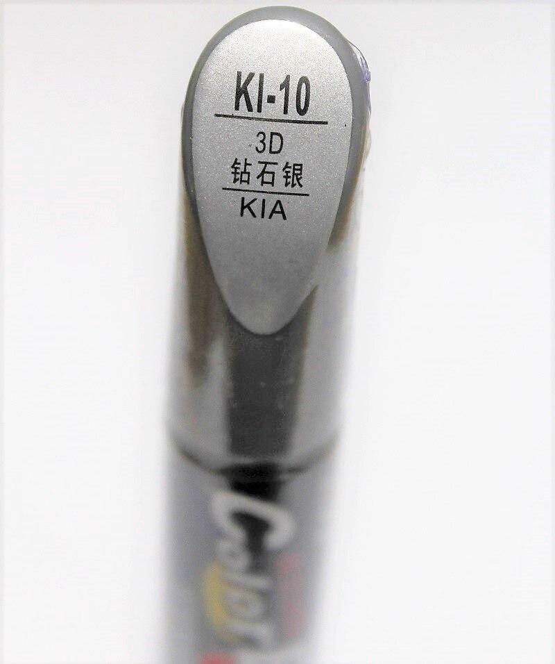 Car scratch repair pen, auto brush painting pen silver color for KIA K2 RIO,K3, K5 cerato soul forte sportage optima(China)