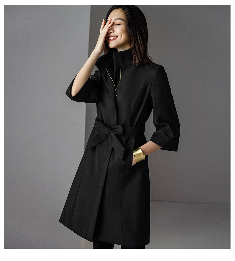 2019 Autumn New Women's Casual Trench Coat Oversize Double Breasted Vintage Washed Outwear Loose Clothing Dropship