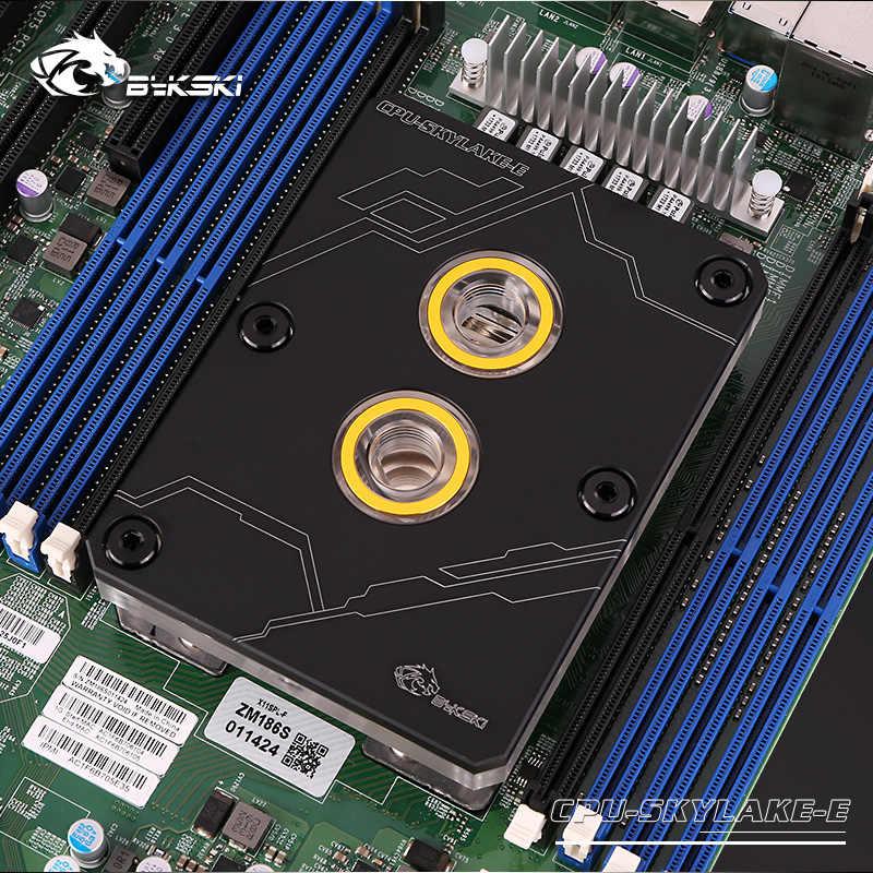 Bykski CPU Uso de bloques de agua para INTEL LGA3647/Toma de SKYLAKE/Bloque de radiador de cobre sistema de refrigeración líquida/Metal cubierta negro