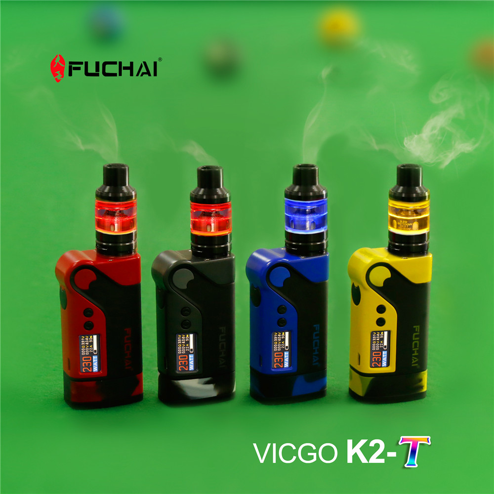Newest kit 0.96'' TFT color screen 2.8ml  230W Sigelei Fuchai Vcigo K2-T with Fuchai T3 Tank Kit sigelei fuchai 213 mod newest 100