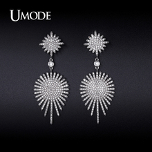 UMODE Crystal Dangle Earrings For Women 2016 New Fashion Jewelry Brincos Para As Mulheres Christmas Gifts