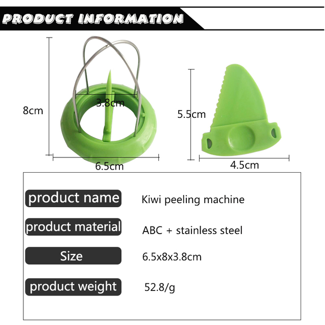 Mini Fruit Kiwi Cutter Tools Pitaya Green 5