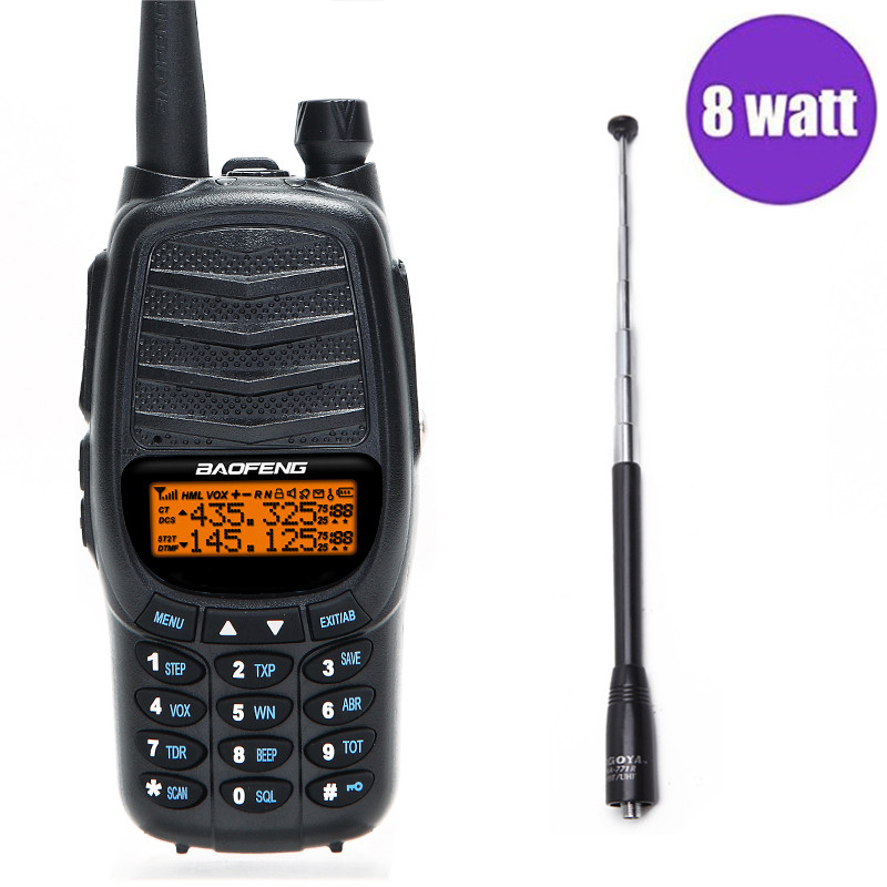 2018 Baofeng UV-X9 Puissant 8 watts Portable Talkie Walkie 2 PTT VHF/UHF Double Bande 10 km Longue Portée jambon CB Radio + NA-771R Antenne