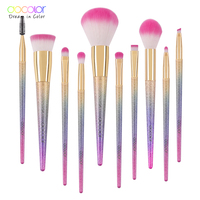 Docolor 10PCS Makeup Brushes Set Fantasy Set Professional High Quality Foundation Powder Eyeshadow Kits Gradient Color
