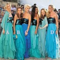 Sparkly Bridesmaid Dresses Turquoise Blue Sequins Long Cheap Bridesmaid Attires Wedding Guest Dresses 2017 Vestidos De Longo
