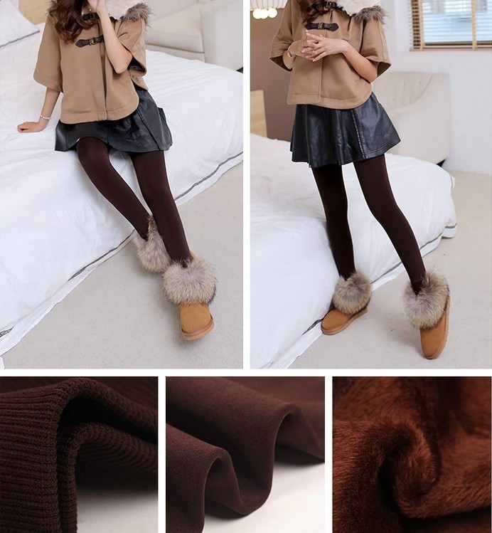 CHRLEISURE New Winter Thick Velvet Pants Female Warm Outer Wear High Waist Pants Were Thick Stretch Pants Stepped Foot legging 11