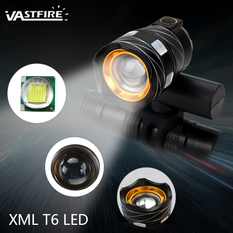 USB Rechargable Lamp Zoomable 15000LM T6 LED Bike Front Light Torch 3 Modes Cycling Headlight