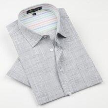 Marke hohe qualität Leinen herren Shirts Kurzarm Männlichen Beiläufigen Geschäfts Shirts Flachs kleid shirt für mann camisa masculina
