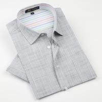 Marca de Ropa de alta calidad Camisas de Los Hombres de Manga Corta Masculina Casual de Negocios camisa de vestir para hombre Camisas de Lino camisa masculina