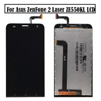 Free Shipping For ASUS Zenfone 2 Laser Z00LD ZE550KL Touch Screen Digitizer Glass LCD Display Assembly + Tools