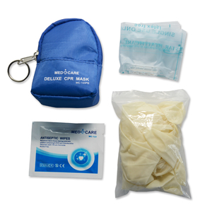 Image 5 - 10 Pieces CPR Rescue Mask Keychain First Aid Kits CPR One way Valve Mask Swabs And Gloves For CPR First Aid Training