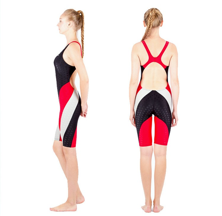 Professional One Piece Competition Swimsuit Women Racing Sport Neck to Knee Athletic Training Swimwear Plus Size Bathing Suit competition racing one piece swimsuit