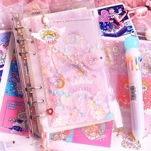 귀여운 노트 소녀 하트 핸드북 세트 유니콘 만화 핸드북 카와이 핸드북 학생 학교 노트북 저널 선물