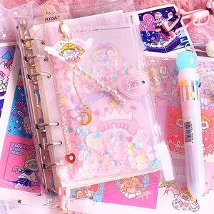 Image 1 - 귀여운 노트 소녀 하트 핸드북 세트 유니콘 만화 핸드북 카와이 핸드북 학생 학교 노트북 저널 선물