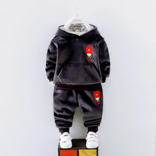 New 2017 Infant Clothing Baby Clothes Long-Sleeved Cartoon Clothing Hoodies+Pants 2pcs Nnewborn Baby Boy Girls Blothing Sets(China)