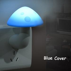 Image 2 - Mini Mushroom Baby Night light Automatic Sensor Light Control Lamp EU US Plug Child Kids Baby Room Led Lamp