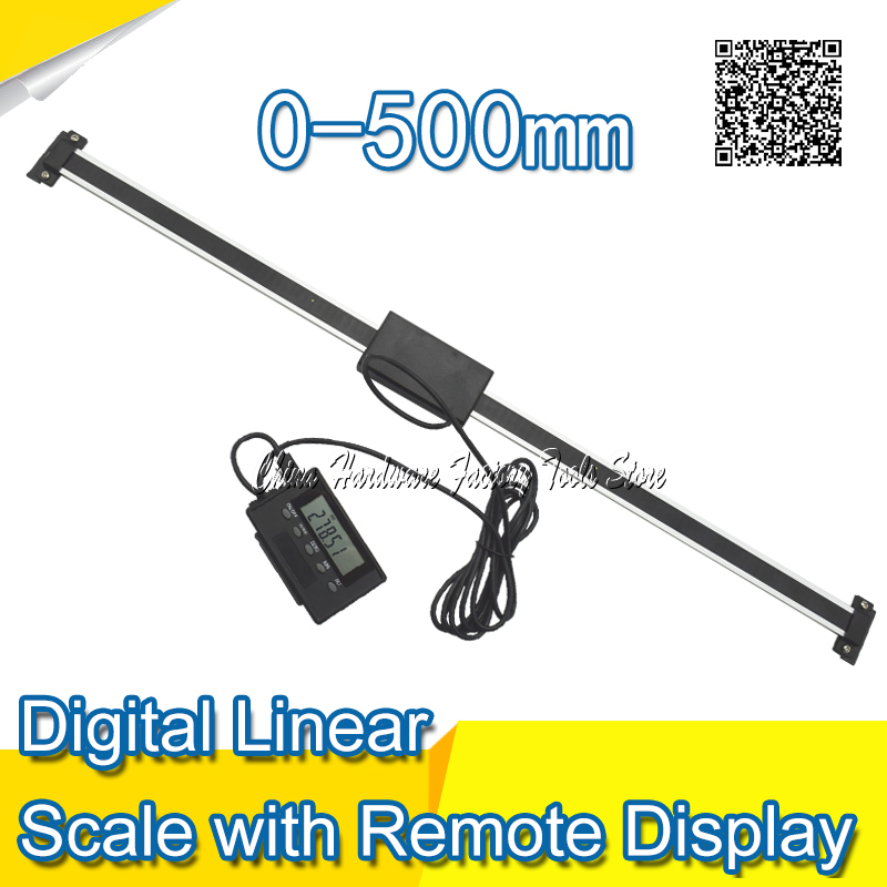 Free Shipping 0-500mm  Readout Digital Liner Scale with Remote Display External Display High Accuracy Measuring Tool  цены