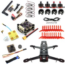 DIY 250 Racer FPV Drone 250mm 4 Axle Glass Fiber Frame PNP S-Tower Flight Control 700TVL Camera 2300KV Motor ESC No TX F09206-E
