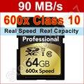 Марка 600x90 МБ/s 16 ГБ 32 ГБ 64 ГБ 128 ГБ Большой Реальный Емкости SDXC Карты памяти Для Canon Nikon 1080 P HD 3D Камеры DSLR Видеокамеры Д. в.