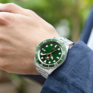 Image 3 - Reloj de hombre SEIKO 5 100% Original, reloj deportivo automático mecánico de 10 Bar resistente al agua SRPB94/91/89/93J1 de acero inoxidable