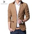 Plus Size XXXXXXL Primavera Vestido Formal Blazers Homens Sólidos Slim Fit Com Decote Em V Jaqueta Blazer Mens Casual Paletós de Negócios Sociais
