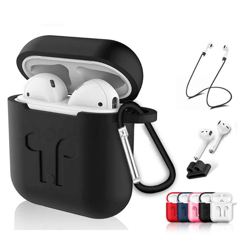 Miękki futerał silikonowy do Airpods na poduszki powietrzne, odporna na wstrząsy słuchawki pokrywa ochronna wodoodporna dla iphone 7 8 zestaw słuchawkowy akcesoria