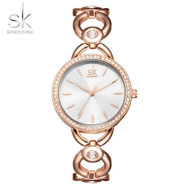Shengke моды бриллиантовый браслет наручные часы для дам Топ Элитный бренд Для женщин Часы Женский Часы Montre Femme Relogio feminino