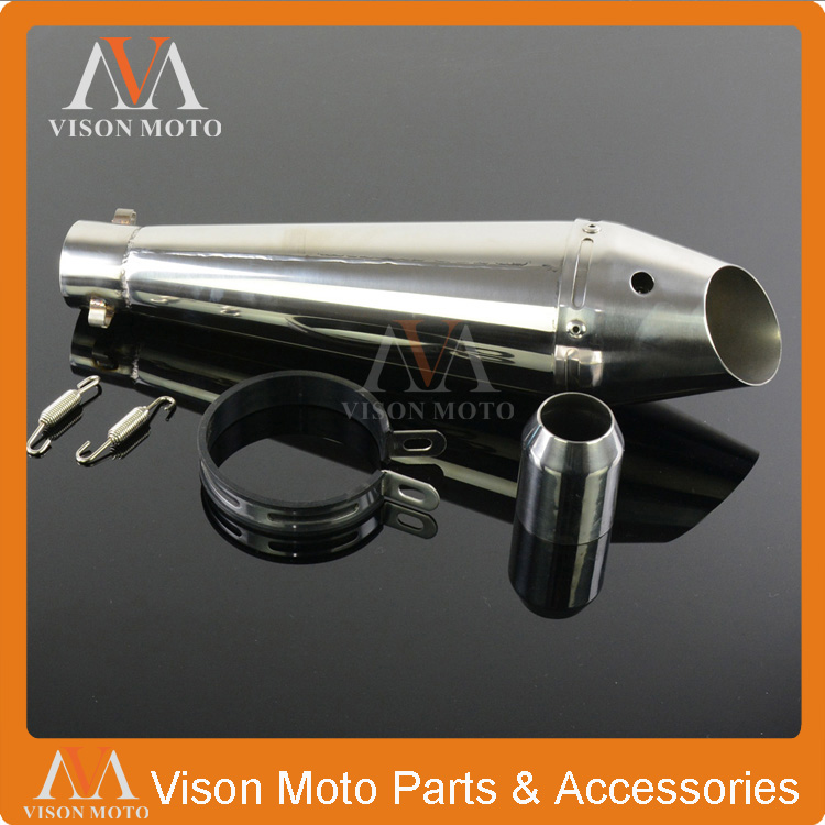 38-51MM Stainelss Steel Exhaust Pipe Muffler Slip On With Moveable DB Killer For Motorcycle Dirt Pit Bike Motocross ATV Racing 38 51mm motorcycle gp stainelss steel exhaust muffler slip on with moveable db killer dirt bike street bike scooter atv racing
