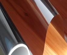 Película de la ventana Pegatinas de Vidrio Espejo Reflectante Solar films dos lado de Cobre (tan) ancho del color 30/40/50/60/70/80/85 de longitud 150 cm