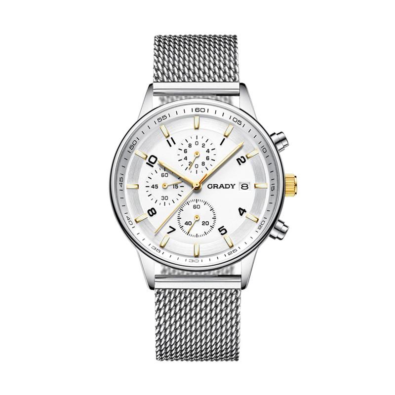 GRADY New Fashion black big dial Men Designer Quartz Watch Male Wrist watch relogio masculino relojes цена и фото