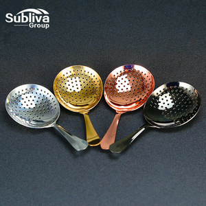 Bar Cocktail Strainer 304 Stainless Steel Copper Plated Gold Plated Julep Strainer Bar Tool